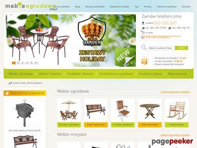 Meble ogrodowe, ławki miejskie i parkowe- Nortpol