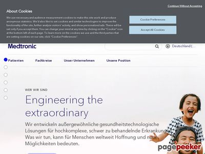 Medtronic Inc. Website