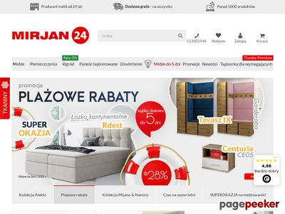 MIRJAN24 - Internetowy sklep meblowy