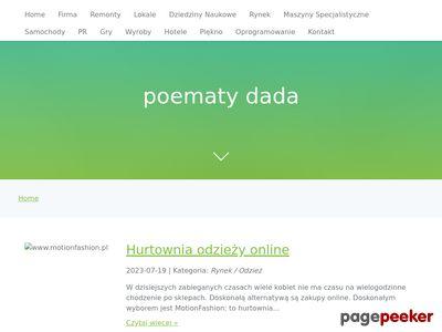 Poematy dada czyli nowoczesna paplanina z humorem.