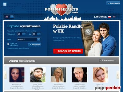 Randki w UK na Polishhearts.co.uk