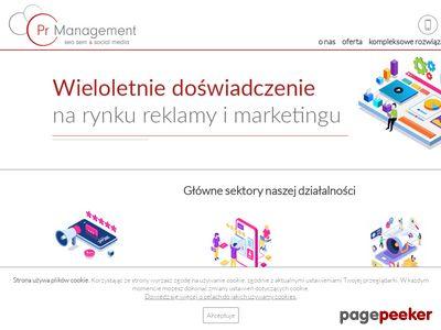 Strony internetowe PR Management