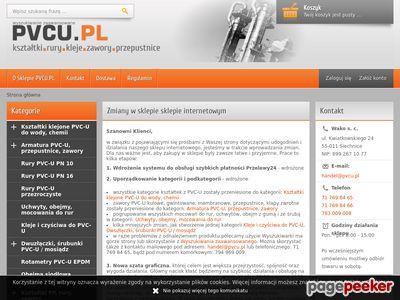 PVCU kształtki i rury PCV