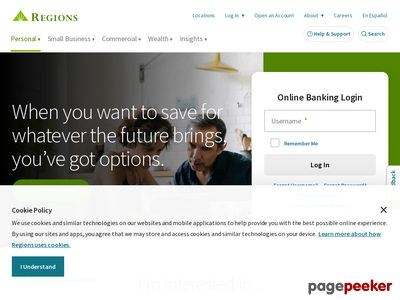Regions Financial Corporation Website