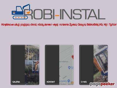 Robi-Instal - usługi minikoparką