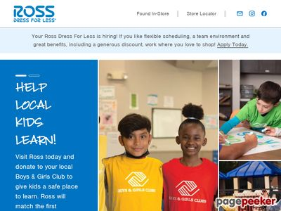 Ross Stores Inc. Website