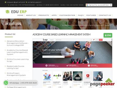 http://www.schoolcollageerp.com/academy-course-based-learning-management-system.html website snapshot
