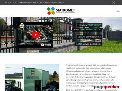 SIATKOMET przęsła ogrodzeniowe Białystok