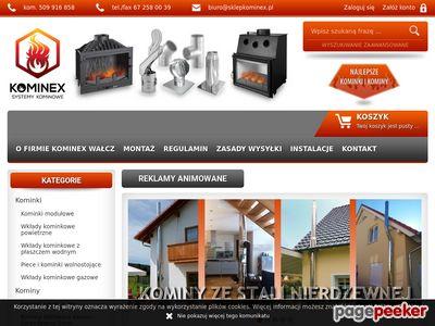 Kominex - niskie ceny wkładów kominkowych