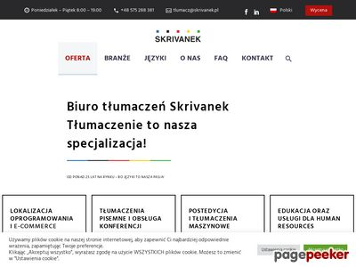 Biuro tłumaczeń - Skrivanek Sp. z o.o.