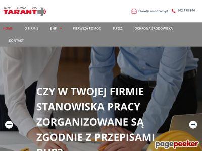 Szkolenia BHP Poznań - Przedsiębiorstwo Wielobranżowe Tarant Sławomir