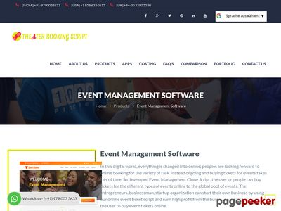 http://www.theaterbookingscript.com/event-management-software.php website snapshot