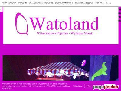 Wata cukrowa- wynajem maszyn w Łodzi