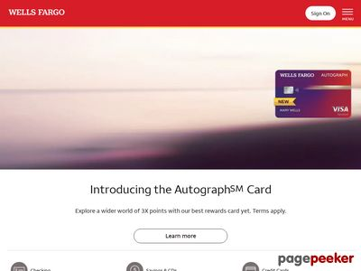 Wells Fargo & Co. Website