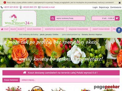 Kwiaciarnia internetowa WyslijKwiaty24.pl Szczecin