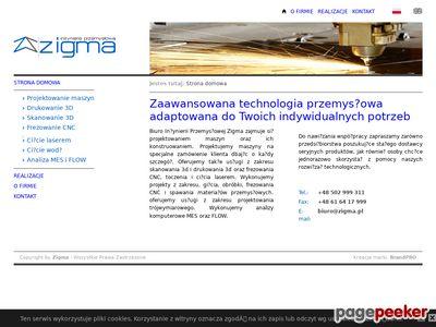 Zigma - druk 3d, skan 3d, frezowanie CNC, projekty maszyn