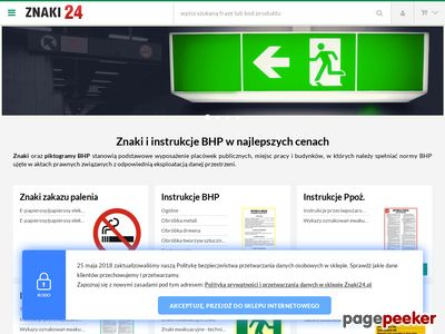 Znaki BHP