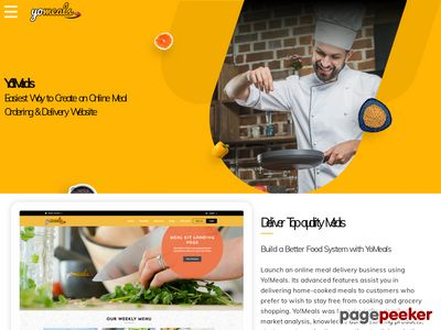 http://yo-meals.com/ website snapshot