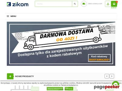 Zikom.pl - poleasingowe części komputerowe