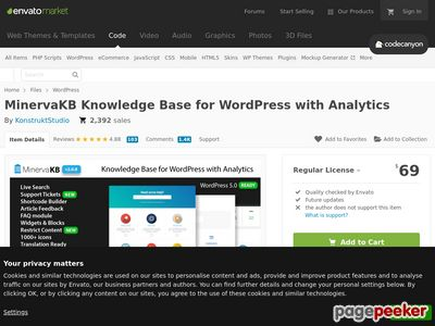 https://codecanyon.net/item/minervakb-knowledge-base-for-wordpress-with-analytics/19185769 website snapshot