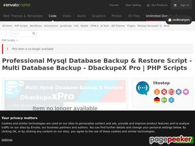 https://codecanyon.net/item/mysql-database-backup-restore-script-multi-database-backup-dbackupex-pro/21452862 website snapshot