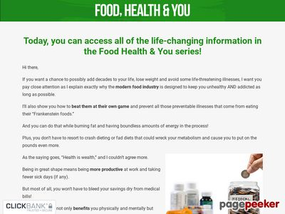 Food, Health, & You – Live Longer, Prevent & Reverse Disease