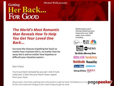 Official Site: Getting Her Back For Good.