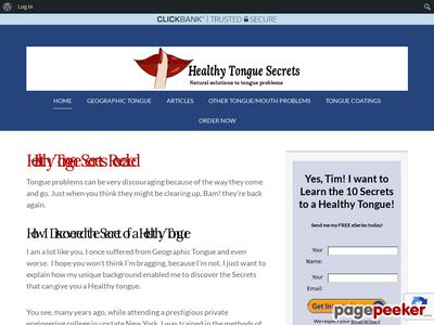 Healthy Tongue Secrets Revealed – Geographic Tongue – Healthy Tongue Secrets