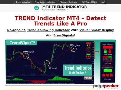 MT4 Trend Indicator – Custom Indicators for MetaTrader 4 platform