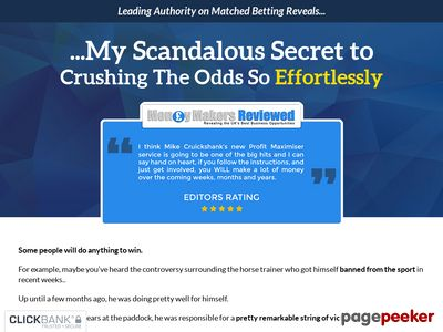 Profit Maximiser Matched Betting System