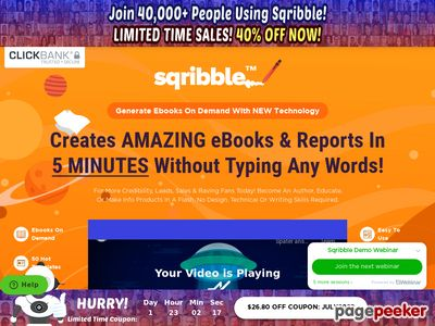 SQRIBBLE – Worlds #1 EASY TO USE & POWERFUL eBook Creator Studio