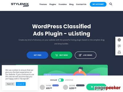 https://stylemixthemes.com/wordpress-classified-plugin/ website snapshot