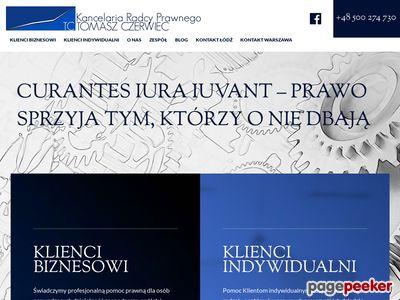 Tczerwiec.pl - radca prawny Łódź.