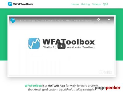 WFAToolbox - Walk-Forward Analysis Toolbox - Algorithmic Trading Toolbox for MATLAB
