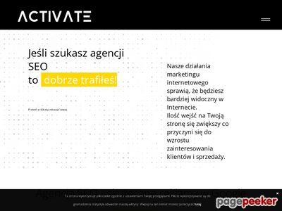 Activate - projektowanie i tworzenie stron internetowych