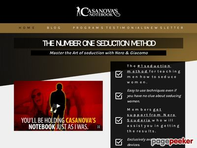 Casanova's Notebook - The Number ONE Seduction Method