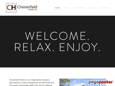 Chesterfield Hotels, Inc. Screenshot
