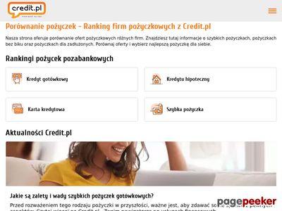 Credit.pl - chwilówki online - zrzut ekranu