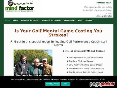 Golf Mental Game Products By Karl Morris - MIND FACTOR International