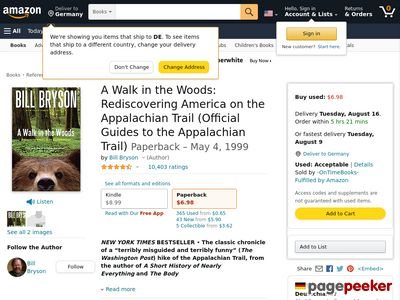 A Walk in the Woods : Rediscovering America on the Appalachian Trail by Bill Bry Screenshot