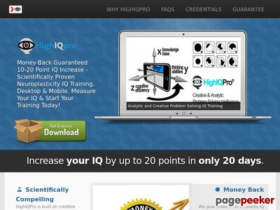 IQ Increase – Uniquely Powerful, Scientific IQ Training Software