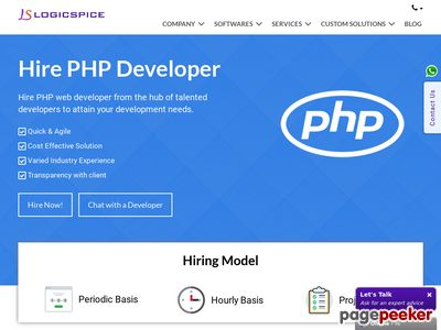 Read more about: https://www.logicspice.com/hire-php-developers