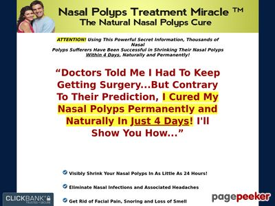 Nasal Polyps Treatment Miracle™ – The Natural Nasal Polyps Cure