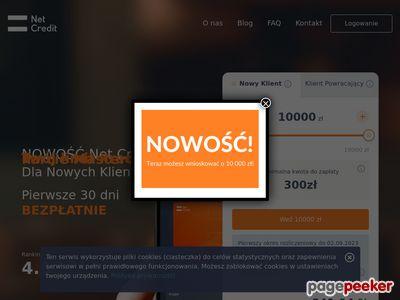 NetCredit - pierwsze pożyczki bez kosztów