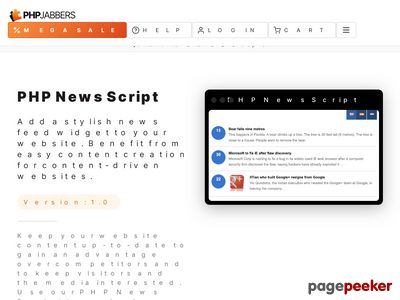https://www.phpjabbers.com/php-news-script/ website snapshot
