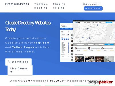 https://www.premiumpress.com/wordpressdirectory-theme/ website snapshot