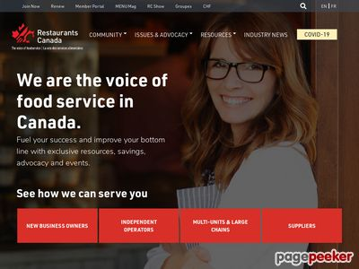 Canadian Restaurant and Foodservices Association CRFA Screenshot