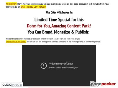 DFY Amazing Content Pack – CB Offer -