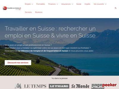 Travailler en Suisse - A visiter!