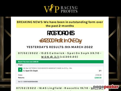 VIP Racing Profits